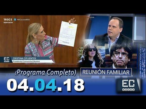 El Cascabel 13tv 04.04.18 Cristina Cifuentes. Puigdemont. Atracos en Murcia. Subida Alquileres.