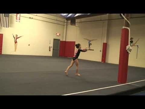 action gymnastics Alexis 8 year old level 5