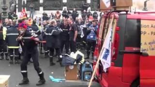 Pompiers: Manifestation à Paris le 03 Novembre 2011