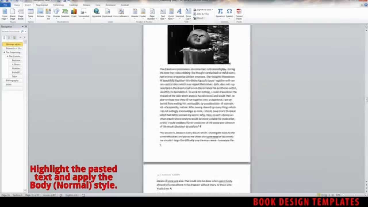 Interior Book Design Template Demo For Ms Word Youtube
