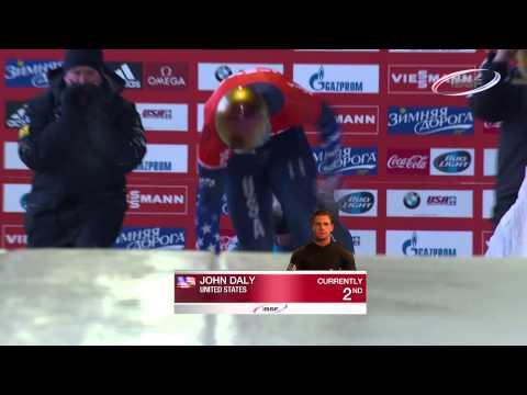 FIBT   Men's Skeleton World Cup 2013/2014 - Lake Placid Highlights