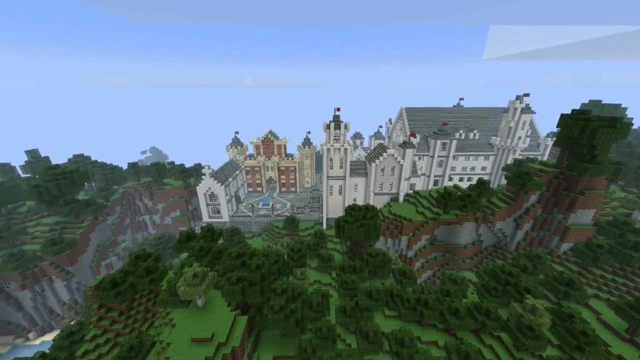 Minecraft Atlantis Castle Build Timelapse (The lost ...