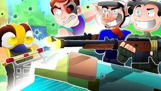 Playground shopping cart shootout mini game! - Fortnite Battle Royale Funny Moments!