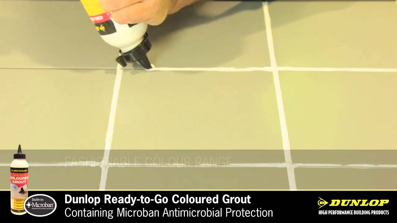 Dunlop ready to go coloured grout youtube dailygadgetfo Choice Image