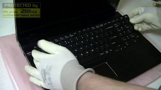 how to replace or remove keyboard on sony vaio sve17, keyboard replacement disassembly
