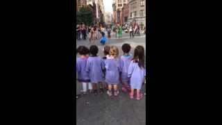 Just a typical pre-school field trip in NYC