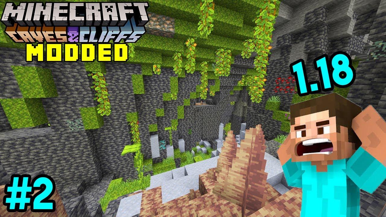 Minecraft 1.17 Modded #2 Exploring Huge Caves & New Update | Minecraft Java [HINDI]