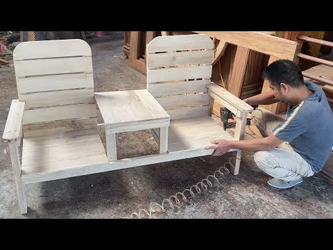 How To Building A Outdoor Double Chair With Table - Design Skills Woodworking Project