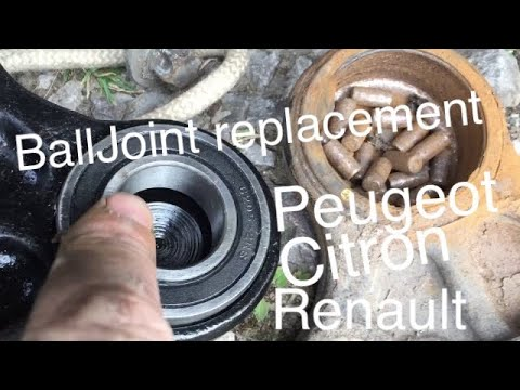 Peugeot Citoren Ball joint replacement DIY