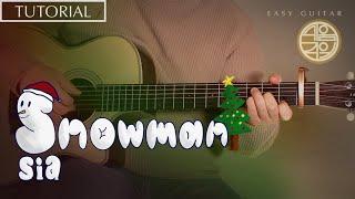 Sia(시아)의 Snowman 을 기타로 치는방법! […