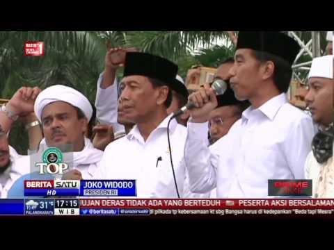Presiden Jokowi Apresiasi Aksi Super Damai 2 Desember