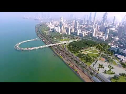 Mumbai Coastal road plan - Animated  Aerial View