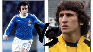 PLATINI VS ZICO (1978) - France x Brazil **GREATESTS**