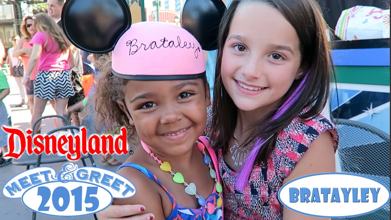 Disneyland meet and greet 2015 bratayley youtube m4hsunfo