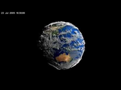 Volume-Rendered Global Atmospheric Model by NASA's Scientific Visualization Studio