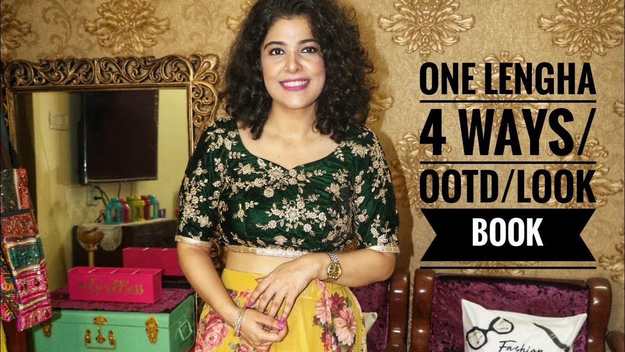 [VIDEO] - One Lengha, 4 ways|Traditional|Modern /Ethnic|LookBook|OutfitIdeas 1