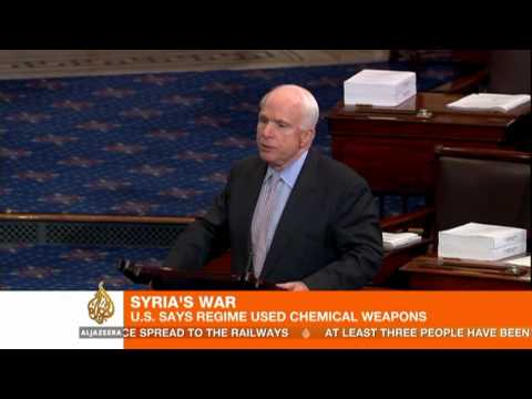 US convinced Syria government used chemical weapons