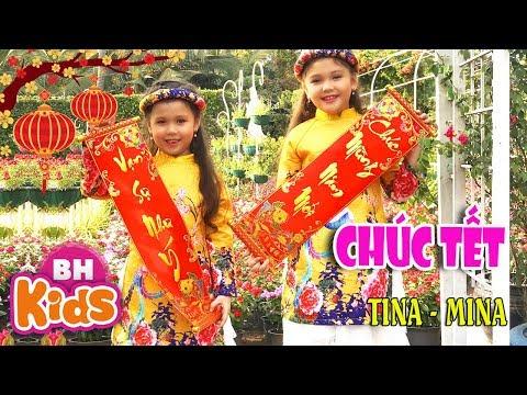 Chúc Tết - Mùa Xuân Sang Ta Chúc Nhau ♫ Bé Tina - Mina ♫ Nhạc Tết Thiếu Nhi Chào Xuân Canh Tý 2020