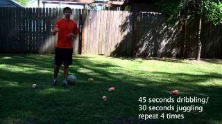 Drills in Soccer - 30 Minute Soccer Training Session #1 - Online Soccer Academy