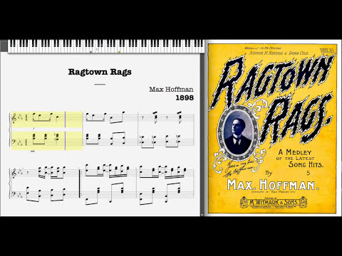 Ragtown Rags by Max Hoffman 1898, Ragtime piano