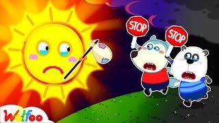الشمس!!! إرجع من فضلك! نحن بحاجة إليك - قصص وولفو كيدز | وولفو فاميلي كيدز كارتون
