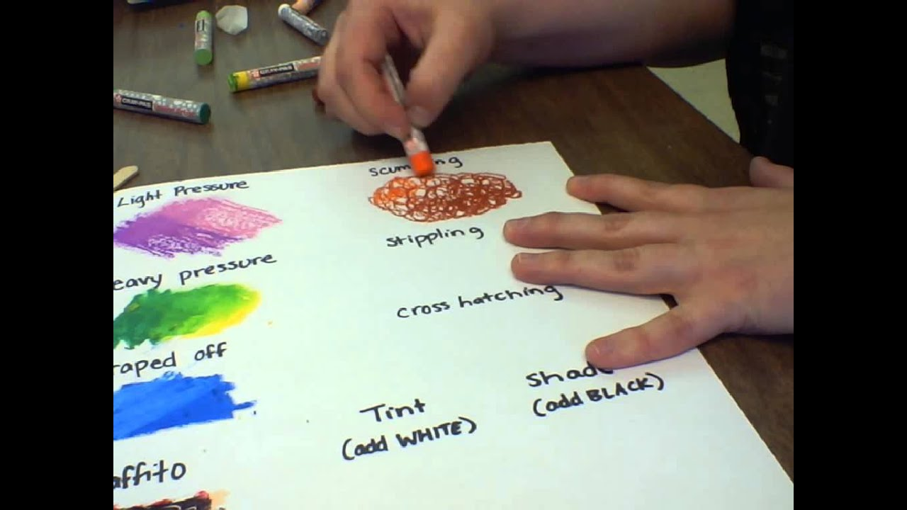 oil pastel techniques quick demo youtube