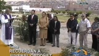 Recuerdan aniversario del fallecimiento de Juvenal Ordoñez en Tacna