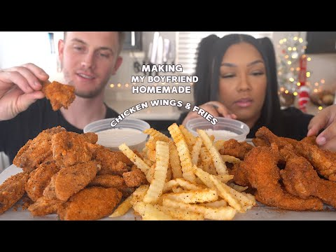 COOKMAS DAY 5!! CRISPY CHICKEN WING & FRIES WITH CHRIS