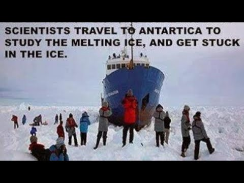 BPEarthWatch Ship of Fools/Record Arctic Ice Stops Global Warming Ships