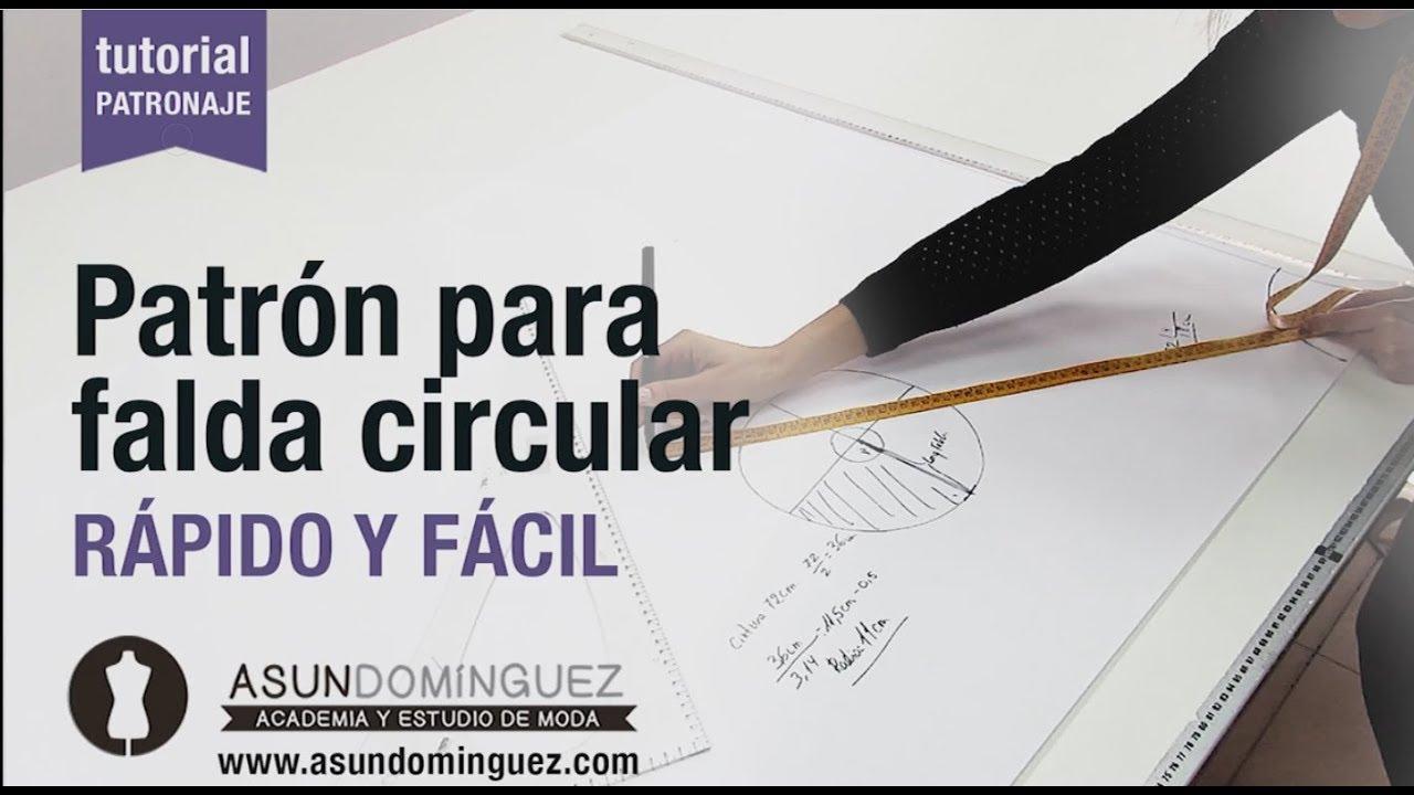 Tutorial: Patron falda circular, fácil y rápido ASUN DOMINGUEZ ...