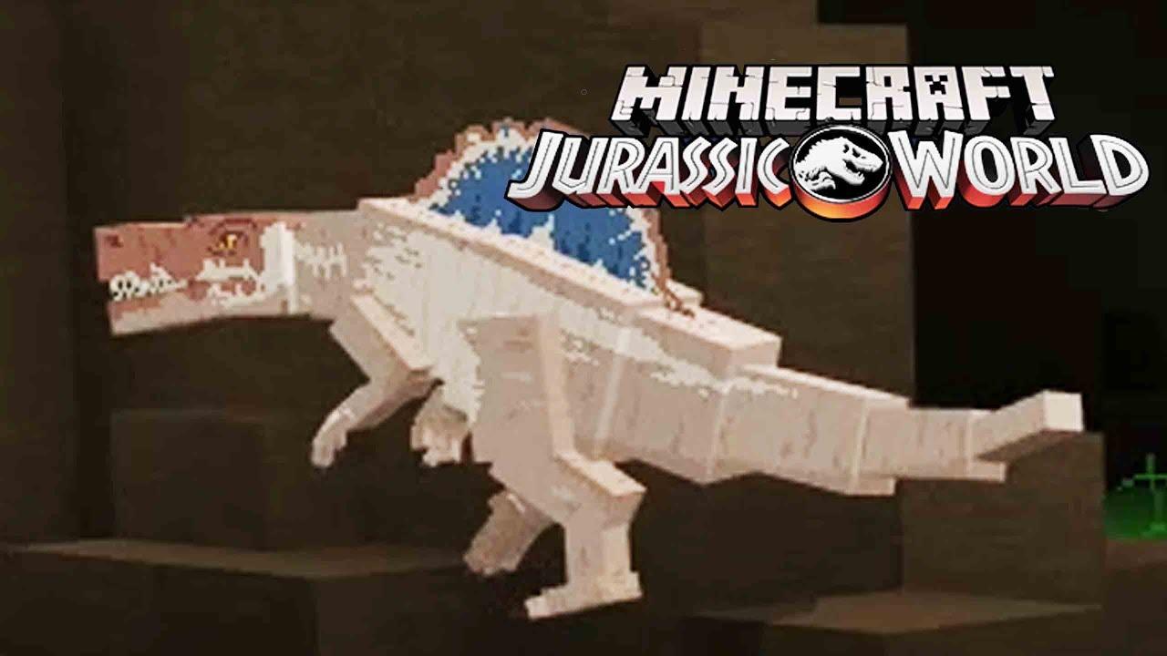 CREO AL ESPINOSAURIO!! NUEVO DINOSAURIO EN EL PARQUE DE DINOSAURIOS JURASSIC WORLD DLC Minecraft