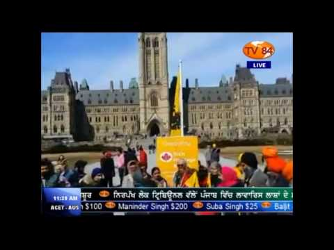 Sikh flag hosted at Canada's Parliament Hill (Ottawa) marks Sikh Heritage Month - Manveer Singh
