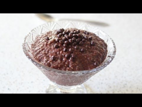 Chia Chocolate Pudding Chocolate Dessert from Chia Seeds