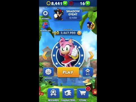 Sonic Dash: Amy Gameplay