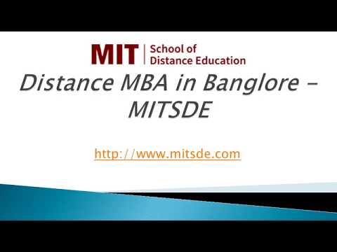 Distance MBA in Bangalore | Distance Management Courses | Correspondence MBA - MITSDE