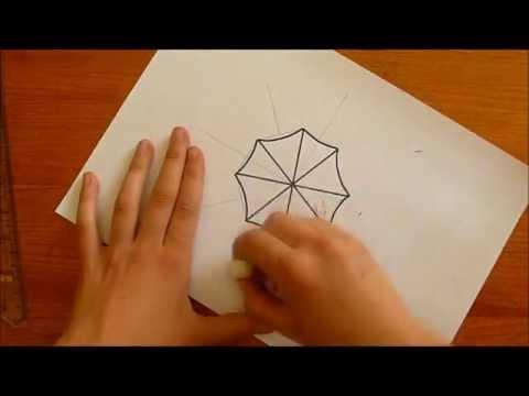 How to draw Umbrella Corporation logo