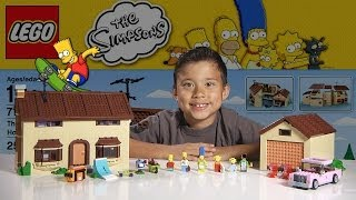 The SIMPSONS HOUSE - LEGO Simpsons Set 71006  - Time-lapse Build, Unboxing & Review!