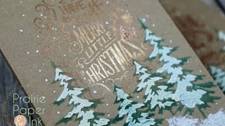 Tim Holtz Doodle Greetings 1 & 2 | AmyR 2016 Christmas Card Series #6