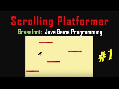 Greenfoot #14 - Platformer Game - Part 1 - Jumping And Falling, Gravity, Platforms