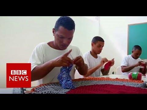 The Brazilian criminals learning crochet in prison - BBC News