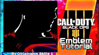 Call of Duty Black Ops 4 Cod Bo4 (Superman) Easy Emblem Tutorial