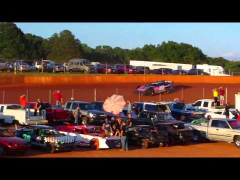 Crates Hot Lapping at Laurens County Speedway 6/1/13
