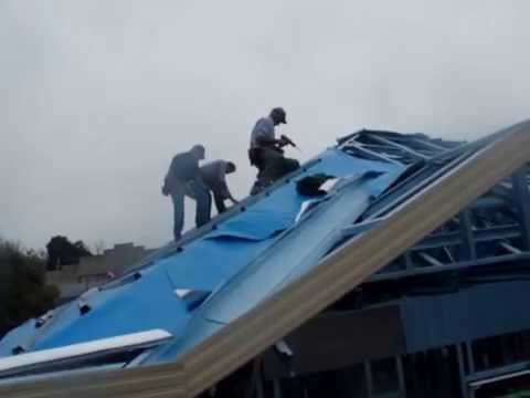 Installing Roofing Foil As Sarking On A Metal Framed Roof