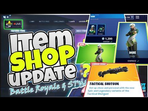 🆕MenamesCho's LIVE - Dare & Tactical Shotgun ITEM SHOP UPDATE Fortnite Battle Royale 15th July 2019