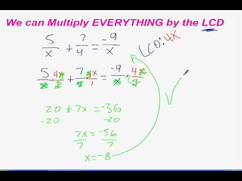 Algebra 2 Ch 86 Solve Rational Functions Youtube