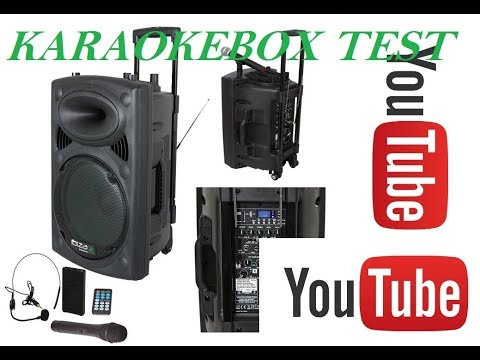 HOLLYWOOD  oder IBIZA USP, MP3, SD mobile PA-Anlage Karaoke Anlage 450 Watt mit Funkmikro