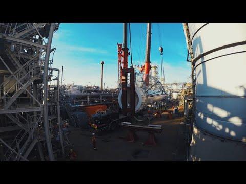Nieuwe kolom Shell Pernis