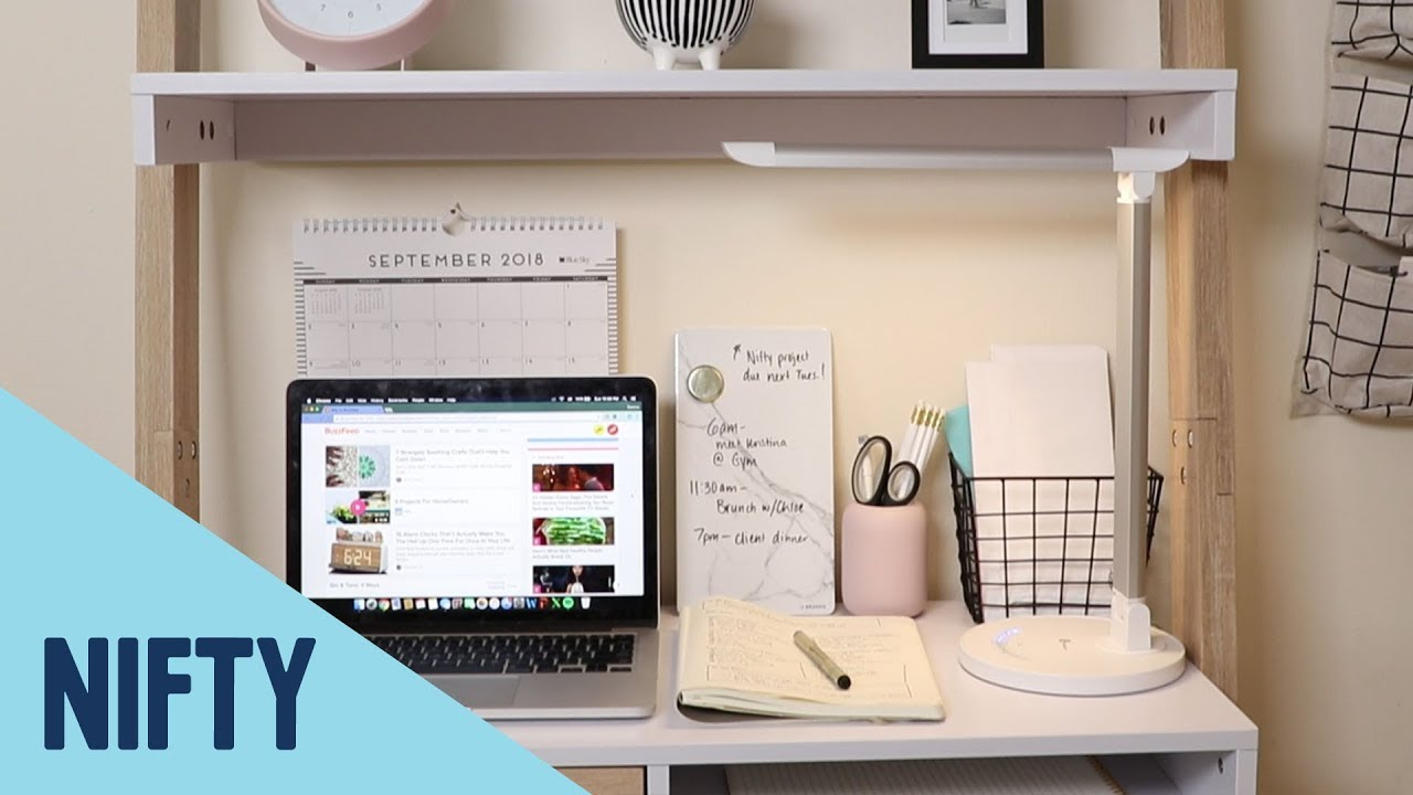 How to create a home office in a small space youtube - Creating a small home office ...