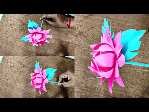 How to make a lotus | Paper craft | DIY paper craft