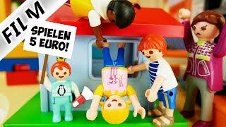 Playmobil Film deutsch FREMDE KINDER IN KITA Emma nimmt Geld für Spielen im Spielhaus |Familie Vogel
